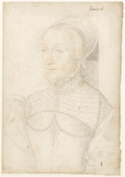 1540 (approx) - Renée de Bonneval (1515-vers 1550) - Jean Clouet - date unknown, prior to 1540
