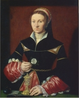 1536 Lady by Master A. W. (Victoria and Albert Museum)