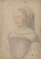 1536 - School of Jean Clouet -Gilberte de Rabutin, de Huban, dame d'Espeuilles -  http://www.culture.gouv.fr/