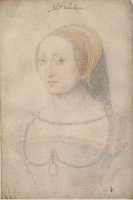 1540 - School of Jean Clouet  - Marie de Langeac, dame de Lestrange - http://www.culture.gouv.fr