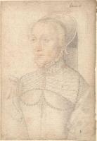 1540 - School of Jean Clouet - Renée de Bonneval, dame de Caraise - http://www.culture.gouv.fr