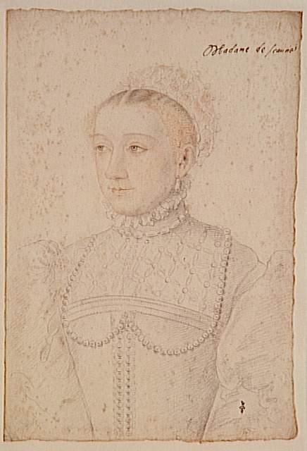 1550 -1555 - Marguerite de France, fille de François Ier, duchesse de Savoie - Clouet