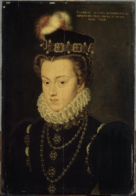 date unknown (before 1572) -Elisabeth d'Autriche (1554-1592), reine de France - attrib to Clouet