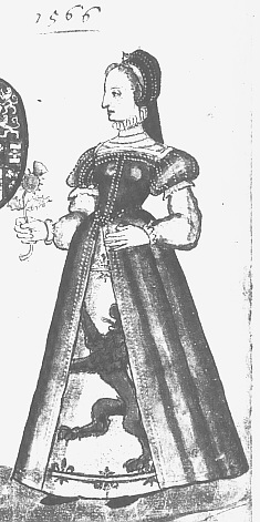 1566 - Mary Queen of Scots dressed in French style