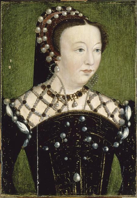 1556 - Catherine de Médicis, reine de France (1519-1589) by Clouet