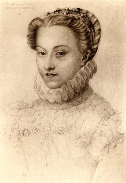 1571 - Elizabeth of Austria, Queen of France - Clouet