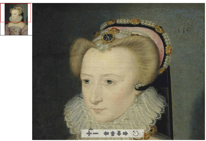 1570 (approx) - Portrait of a lady, traditionally identified as Louise de Lorraine