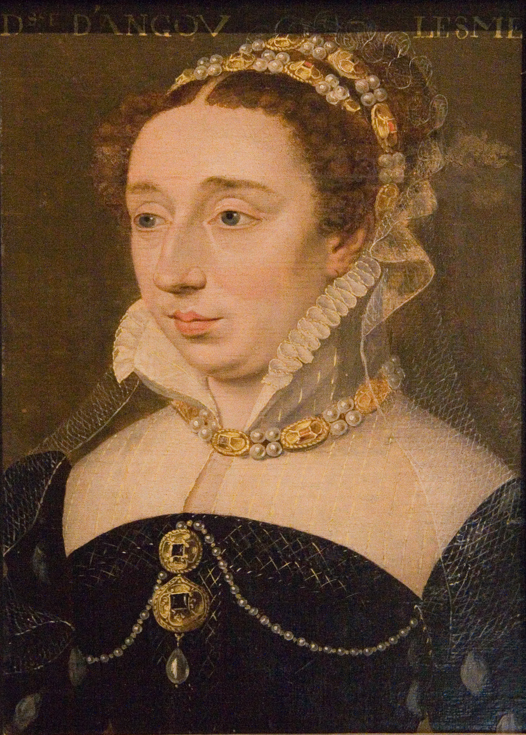 date unknown - Diane de France, duchesse d'Angoulême (1538-1619); painting at the Musée Carnavalet, Paris