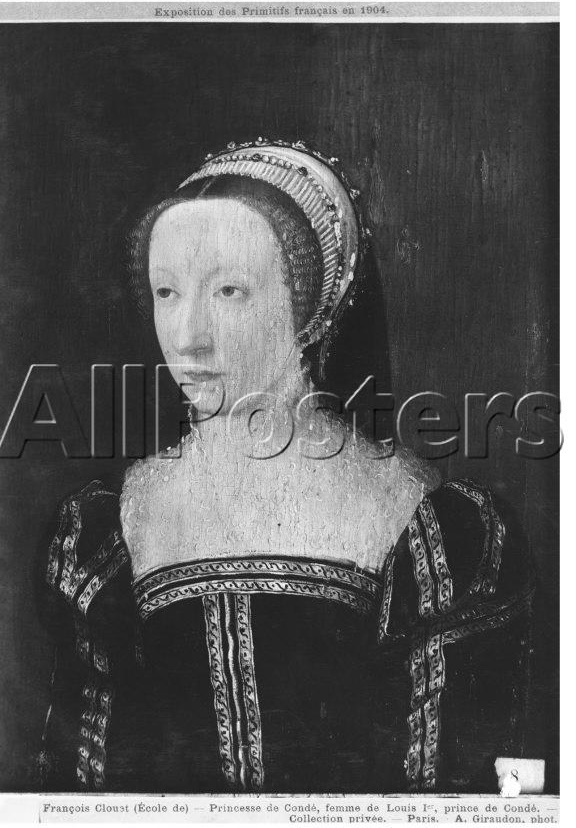 1550 - Portrait Presumed to be Francoise D'Orleans Rothelin, Princess of Conde - Francois Clouet