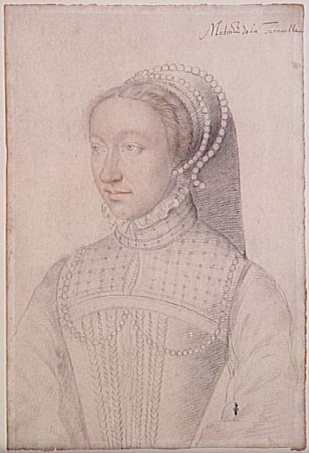 1550 (approx) - Jeanne de Montmorency - wife of Louis III de La Trémouille - by Francois Clouet