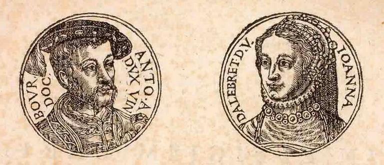 1553 - Antoine de Bourbon et Jeanne d'Albret
