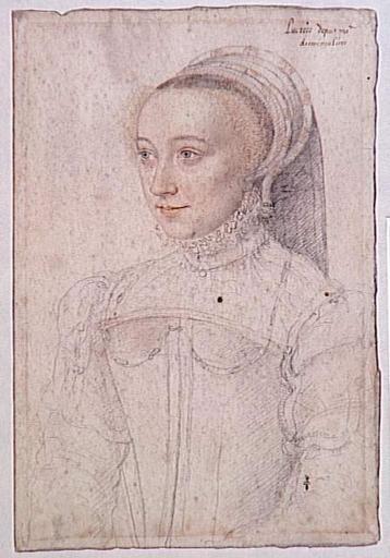 1550 - Lucrezia dei Rodolfi, dame de Mineray, d'Arminvilliers-en-Brie - School of Jean Clouet