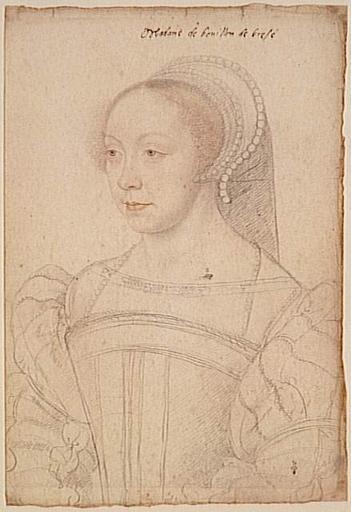 1550 (approx) - Françoise de Brézé dame de la Marck, duchesse de Bouillon, comtesse de Maulevrier, baronne de Mauny (1519-1574) - CLOUET François -