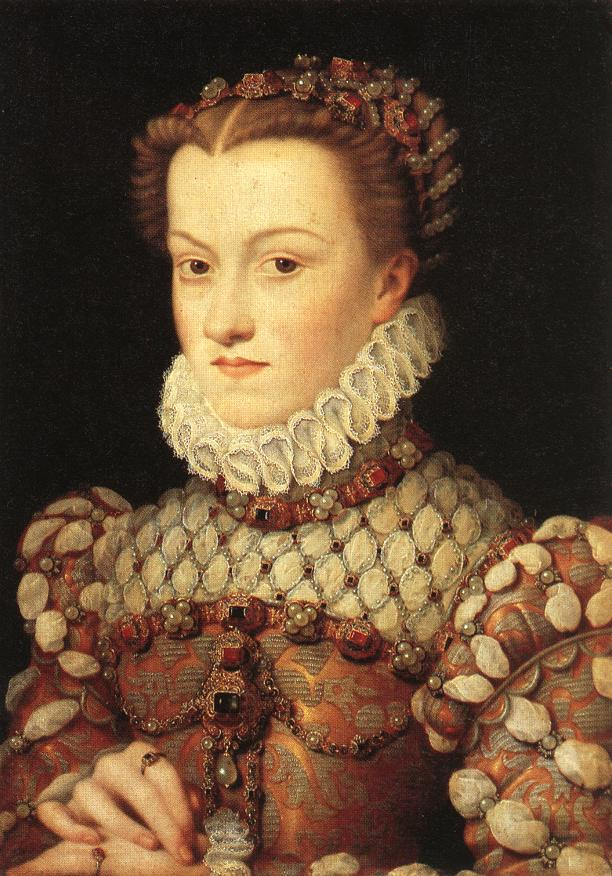 1571 - Elisabeth of Austria, Queen of France - by CLOUET, François Musée du Louvre, Paris