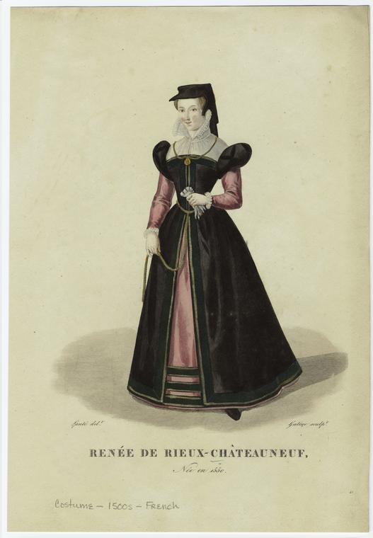date unknown - Renée de Rieux-Châteauneuf, (b. 1550) - from 19th century book