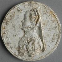 date unknown - Médaillon rond avec le buste de Losina de Manteca - by school of Palissy Bernard