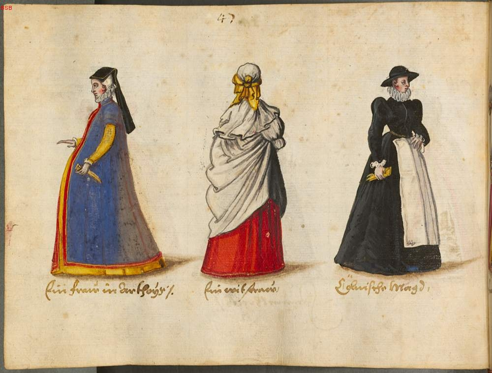 1560 -1570 - Costumes and Customs: Italy, France, Britain, Flanders, Netherlands, Brabant