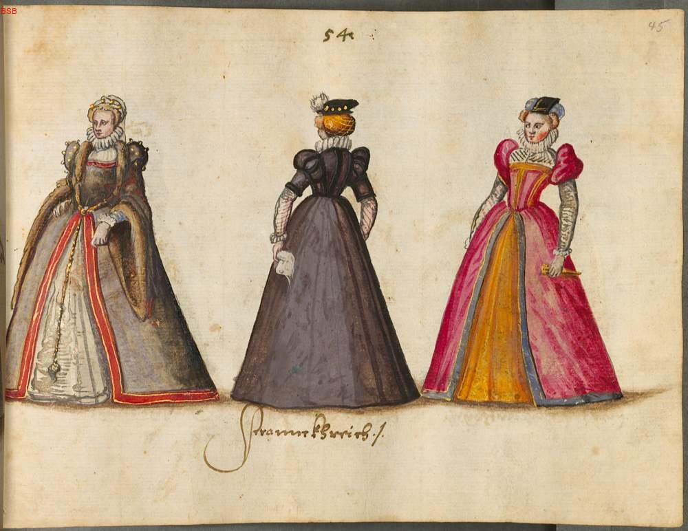 French renaissance mid to late 16th century costume dress portraits ...