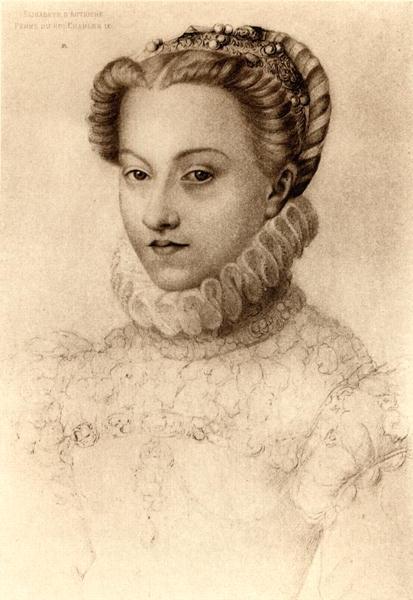 1571 - Elizabeth of Austria, Queen of France - Clouet