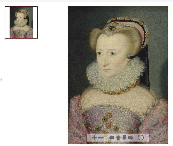 1570 (approx ) - Portrait of a lady, traditionally identified as Louise de Lorraine