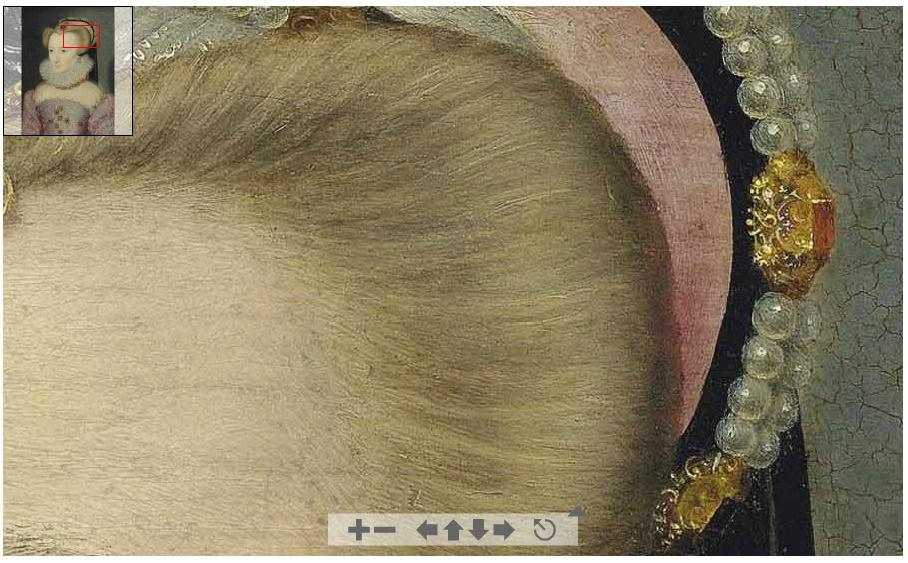 1570 (approx) - Portrait of a lady, traditionally identified as Louise de Lorraine