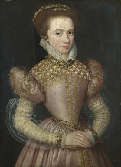 1570-5 (approx) - Portrait of a Lady by UNKNOWN FRENCH MASTER;