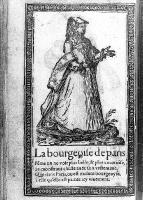 1567 - Middle Class woman of Paris - Illustrations de Recueil de la diversité des habits qui sont de présent usage tant es pays d'Europe, Asie, Afrique et isles sauvages