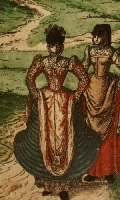 1575 - Bourges, - French Dress Images from the Civitates Orbis Terrarum