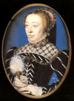 1555 - Miniature of Catherine de' Medici - attributed to F Clouet