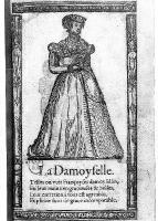 1567 - French Maiden- Illustrations de Recueil de la diversité des habits qui sont de présent usage tant es pays d'Europe, Asie, Afrique et isles sauvages