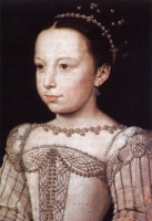 1560 (approx) - Young Margot by François Clouet (Musée Condé, Chantilly)