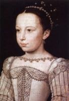 1560 (approx) - Young Margot by François Clouet (Musée Condé, Chantilly)