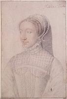 1550 (approx) - Jeanne de Montmorency - wife of Louis III de La Trémouille - by Francois Clouet