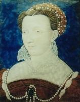 1570 - CATHERINE-MARIE de LORRAINE, DUCHESS de Montpensier - by Léonard Limosin