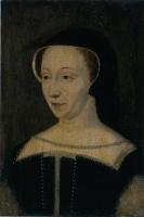 1555 (aprox) - Dianne de Poiters - Based on a 1555 drawing by Francois Clouet. Portrait de Diane de Poitiers, duchesse de Valentinois, (1499-1566)