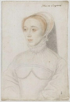 1550 - Jeanne de Vivonne, dame de Clermont, baronne de Dampierre - School of Jean Clouet
