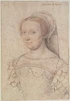 1550 (approx) - Charlotte Du Moulin, dame de Caumont de Lauzun (de La Roche-Audry ?) - school of Clouet