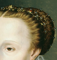 1570 - Madeleine le Clerc du Tremblay (detail) - Clouet