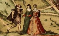 1572 - Paris - French Dress Images from the Civitates Orbis Terrarum