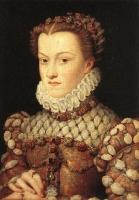 1571 - Elisabeth of Austria, Queen of France - by CLOUET, François Musée du Louvre, Paris