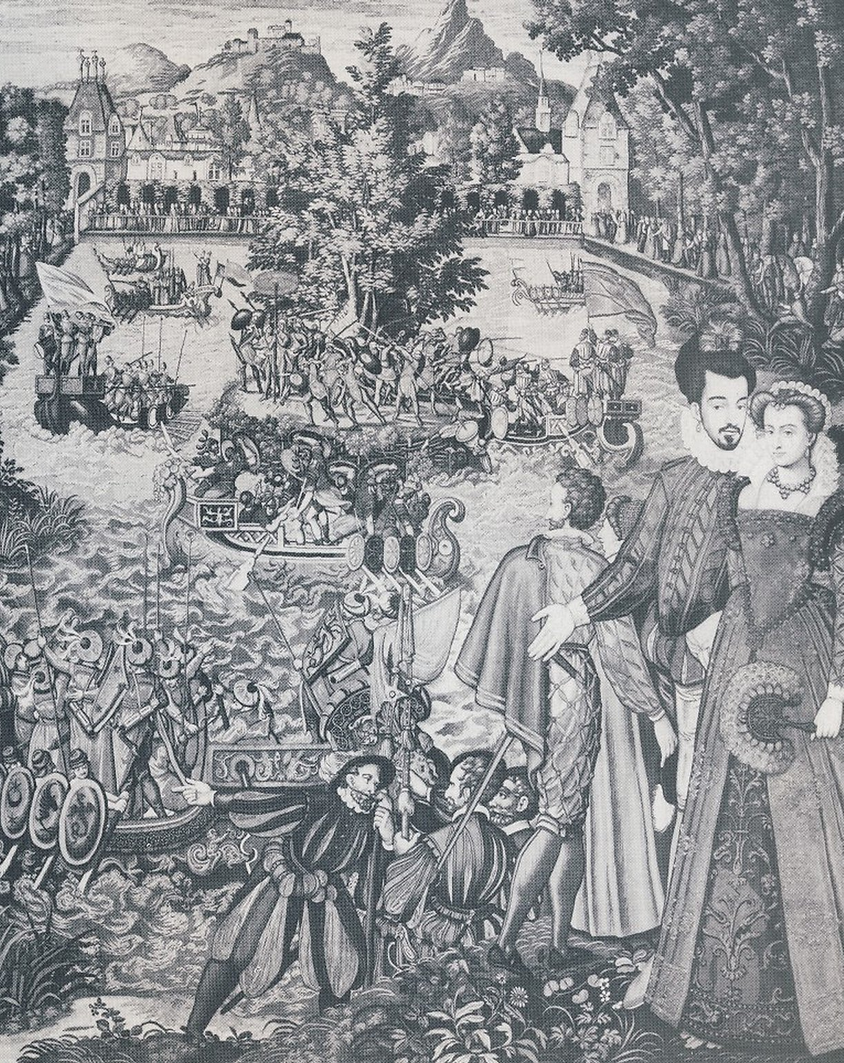 1564 - Valois tapestry, entertainments at Fontainebleau - Tapestry depicting one of Catherine de' Medici's