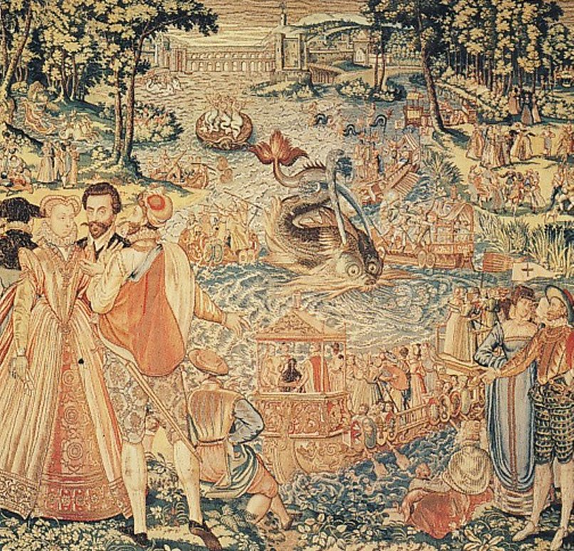 1565 - Water Festival at Bayonne. Valois Tapestry