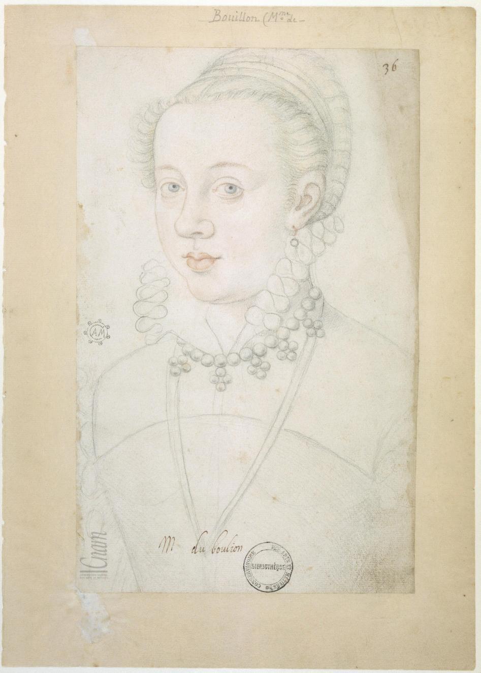 date unknown - Charlotte de Bouillon, dame de Turenne (aka Charlotte le Mark) (b. 1574 d 1594)
