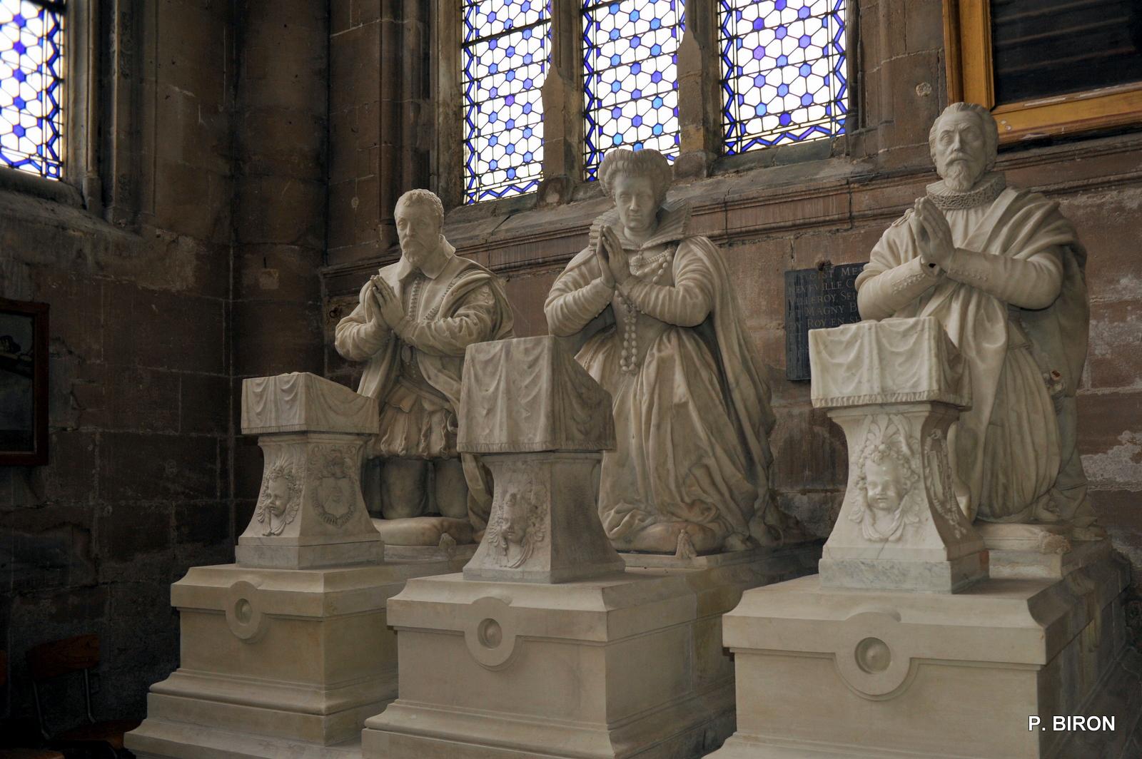 1595 - Monument funéraire de la Famille Villeroy - Eglise Notre Dame de Magny-en-Vexin - Val-d'Oise