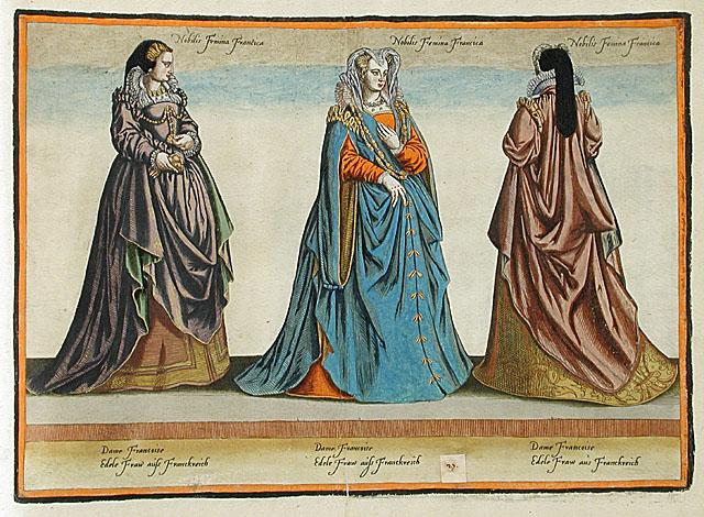 1581 - French ladies - Habitus Variarum Orbis Gentium - Jean-Jacques Boissard