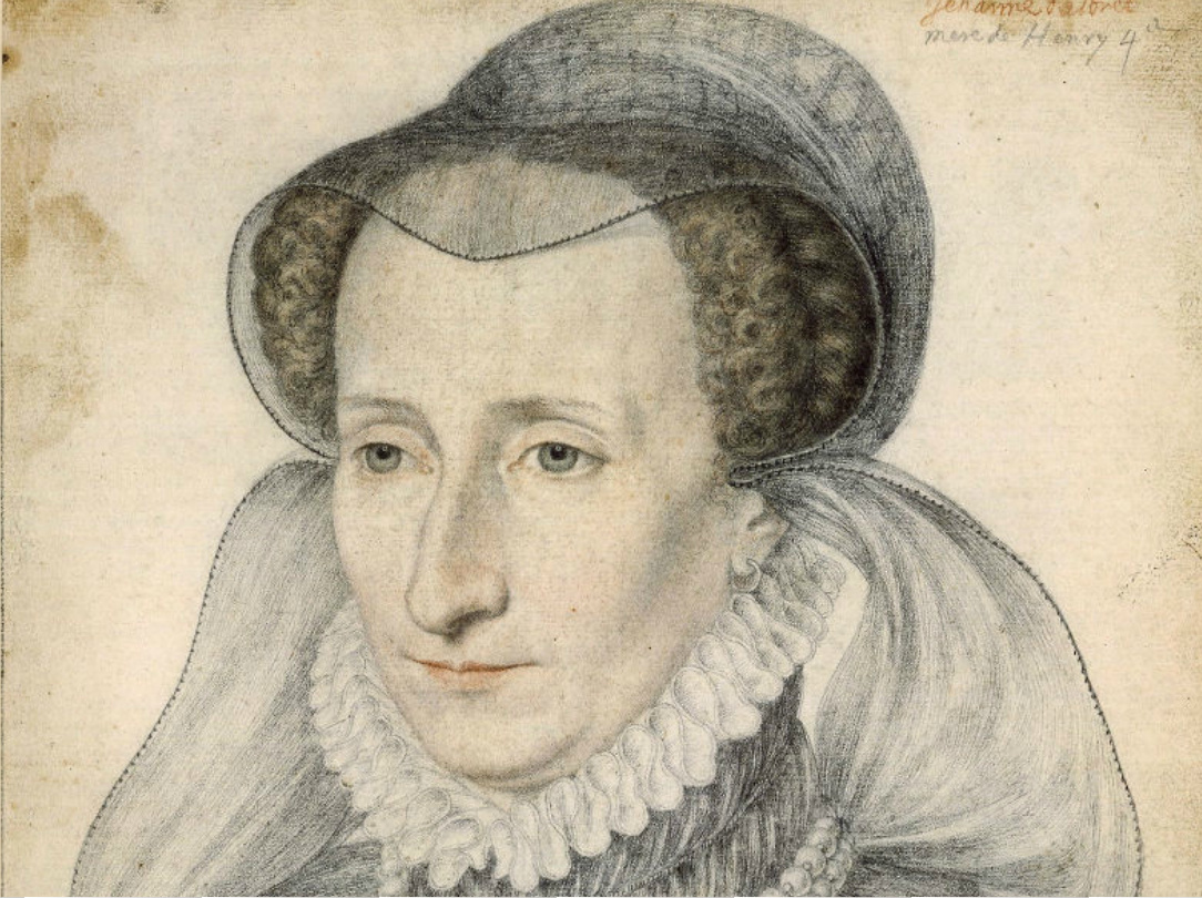 1585 - post-humous portrait of Jeanne d'Albret