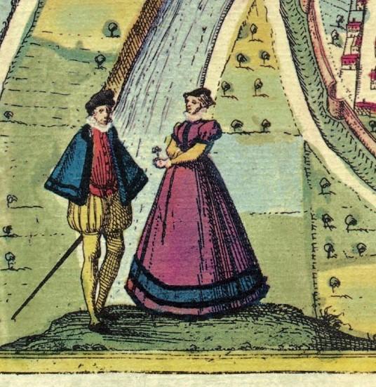 1581 - Civitates Orbis Terrarum III - Romans-sur-Isère