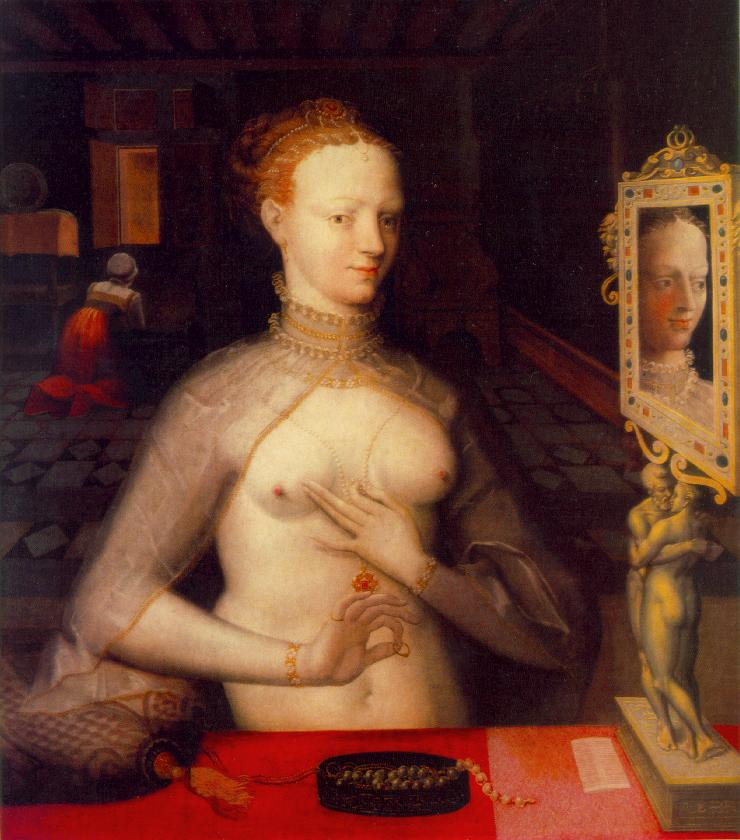 1590 - Diane de Poitiers - by MASTER of the Fontainebleau School