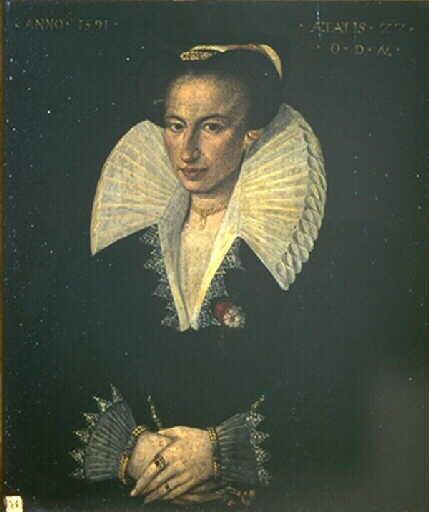 1591 - Portrait présumé de la duchesse de Montpensier - artist unknown