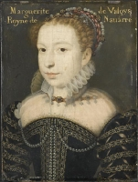 date unknown - Portrait de Marguerite de Valois, reine de Navarre (1553-1615) - clouet school?